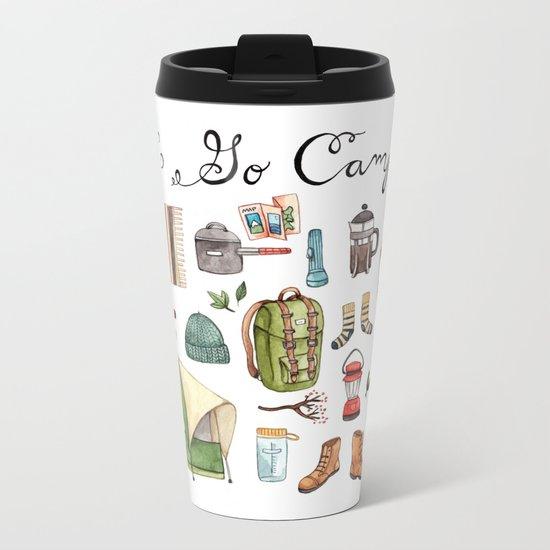 Let's Go Camping Metal Travel Mug