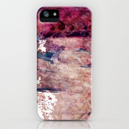 Pink landscape iPhone Case