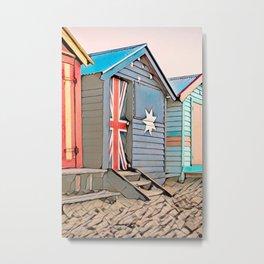 Australia Fare, Beach Huts, Brighton Beach, Melbourne Metal Print
