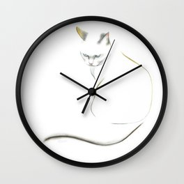 Blue-eyed cat Wall Clock