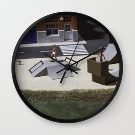 Miniature skatepark Wall Clock