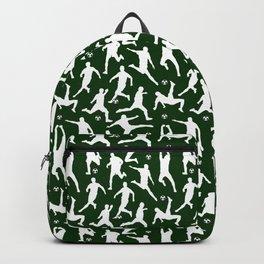Soccer Players // Dark Green Backpack