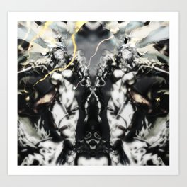 Venusia [Digital Figure Illustration....Mono-Mix]  Art Print