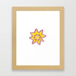 POW! - yellow, red, white Framed Art Print