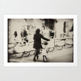 Barcelona Bicing Art Print
