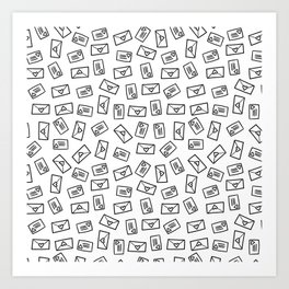 Little Hand-Drawn Love Letters Art Print