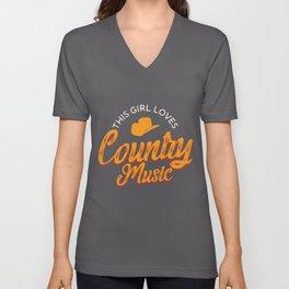 This Girl Loves Country Music product | Musician Lover Unisex V-Neck