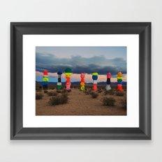 Seven Magic Mountains Framed Art Print