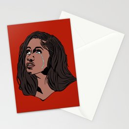 The Weeping Cardi B Stationery Cards
