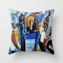 Blue Salsa Throw Pillow