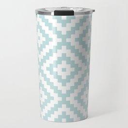 Aztec Block Symbol Ptn Blue & White II Travel Mug