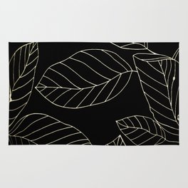 Black Leaves Rug