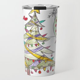 Festive Christmas Scene Travel Mug