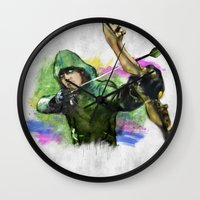 arrow Wall Clocks featuring arrow by evenstarss