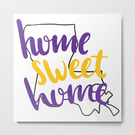 Home Sweet Home LSU Metal Print