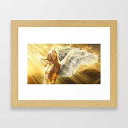 angel boy Framed Art Print