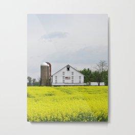 Barn and Silos 2 Metal Print