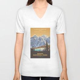 Banff National Park Unisex V-Ausschnitt