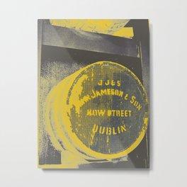 Jameson barrel art print Metal Print
