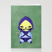 skeletor Stationery Cards featuring A Boy - Skeletor by Christophe Chiozzi