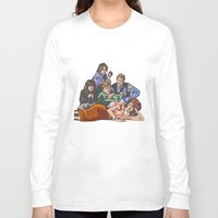 breakfast club Long Sleeve T-shirts featuring The Breakfast Club by Heidi Banford