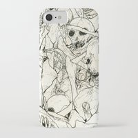 bones iPhone & iPod Cases featuring Bones by Jess Worby