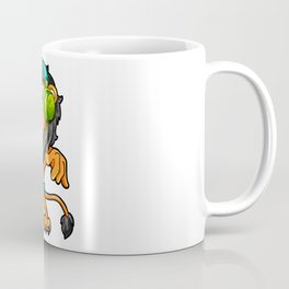 Lion listening to Music Headphones walkman gift Coffee Mug