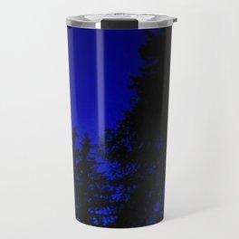 Ominous Dark Blue Nightime Sky Travel Mug