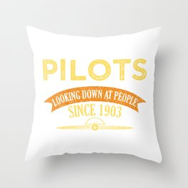 Pilot Proud Aviation Lover Gift Idea Throw Pillow
