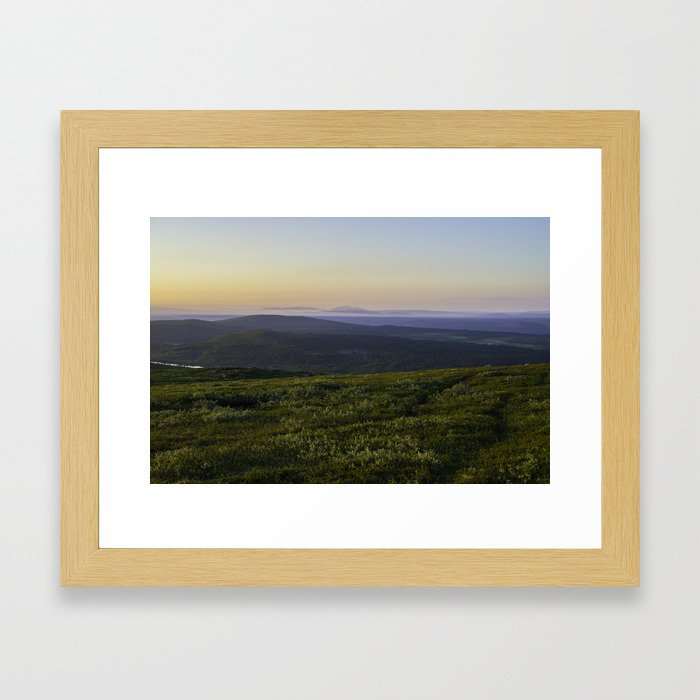 Midnight sun Framed Art Print