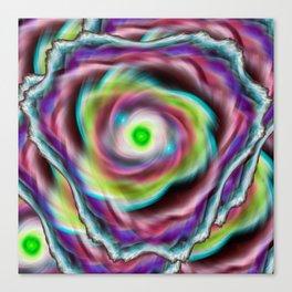 Rainbow psychedelic vortex Canvas Print