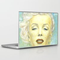 book cover Laptop & iPad Skins featuring Marilyn Monroe comic book cover by TidalWave Productions