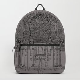 Alhambra palace, Granada, Andalucia - Spain-Black & White Backpack