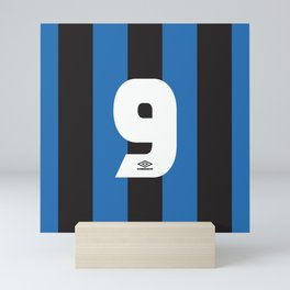 Internazionale Milano Number 9 Mini Art Print