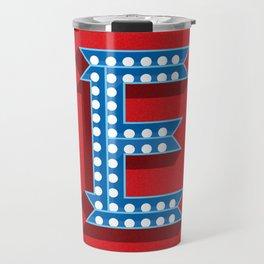 Letter E Initial Cap Travel Mug