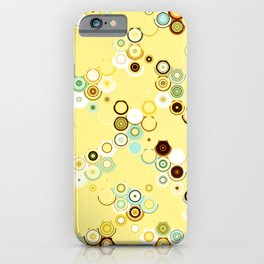 pastel geometric abstract pattern iPhone Case