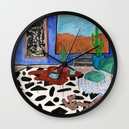 Mid Century Desert Home Wall Clock