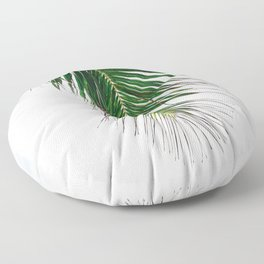 Palm Tree Frond in the Seychelles Islands Floor Pillow