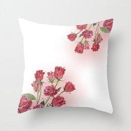 Never Ending Roses Throw Pillow