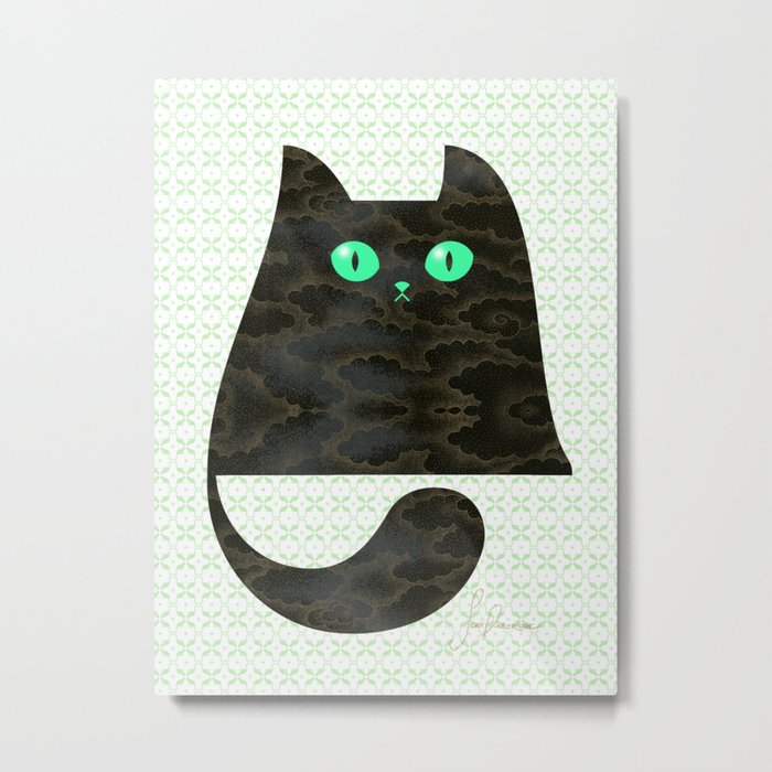 Cloud Kitty Metal Print