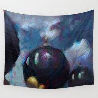 mario Wall Tapestries featuring Mario by Ronan Lynam