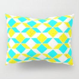 Turquoise & Yellow Diamonds Inverted Pillow Sham