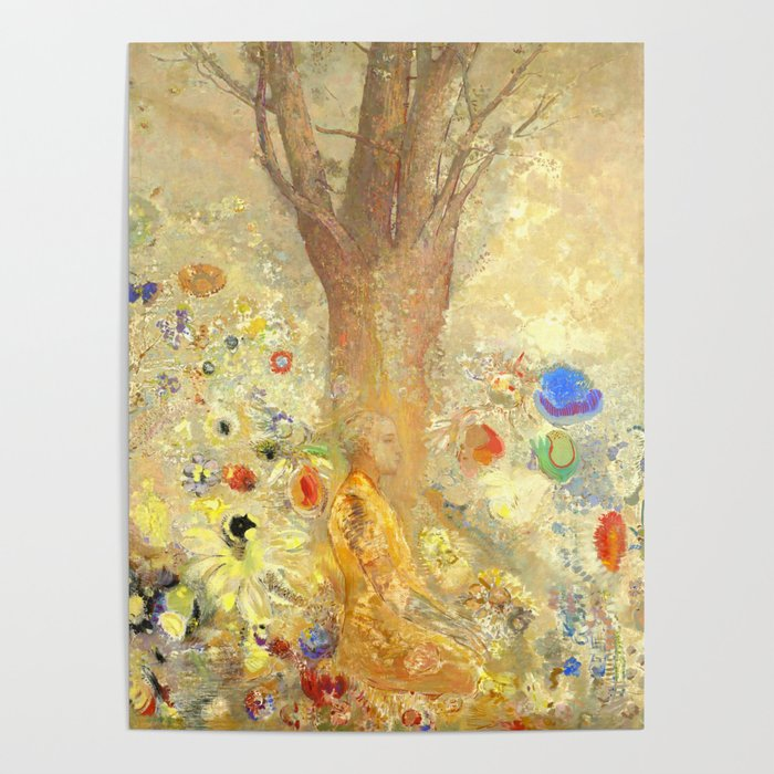 "Odilon Redon ""Buddha in His Youth"" Poster"