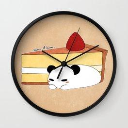 Panda Pudding Wall Clock