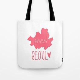Seoul (Map) Tote Bag