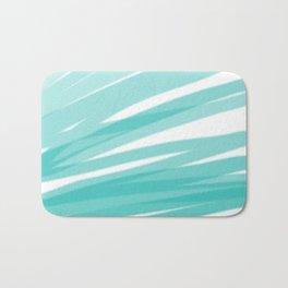 Bahama Blue Line Art, Variable Opacity Color Study - 1 Bath Mat