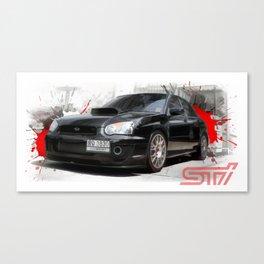 Cars: Subaru WRX STI Canvas Print