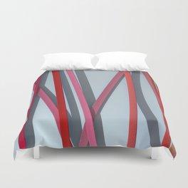 ribbon paper background red Duvet Cover