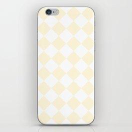 Large Diamonds - White and Cornsilk Yellow iPhone Skin