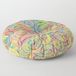 Colorful pattern (a little geometry) Floor Pillow